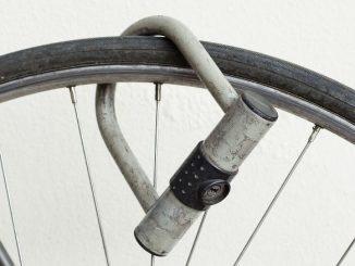 Antivol Sur Une Roue De Vélo